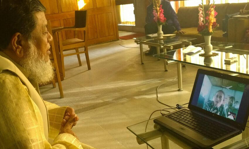 Hello MP holds video-conference style meeting