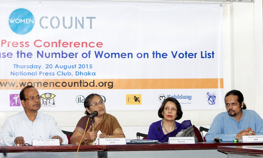 Evidence-based approach to address gender-gap in voter list